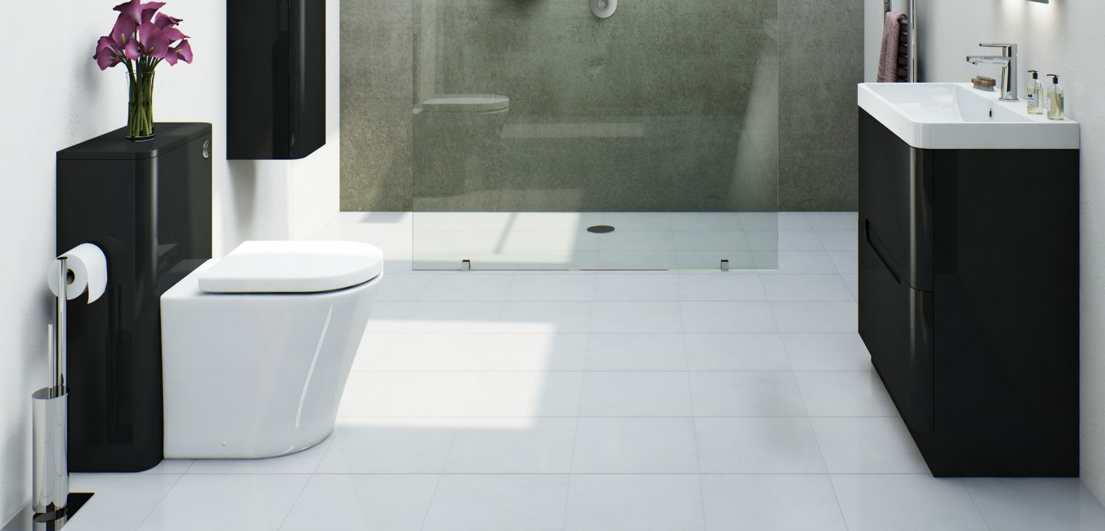 8 reasons why a monochrome bathrooms work for Monochrome bathroom designs