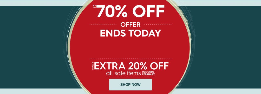 Up to 70% off Winter Savings