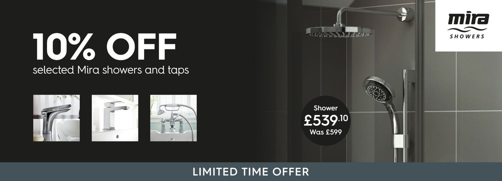 10% off selected Mira Showers