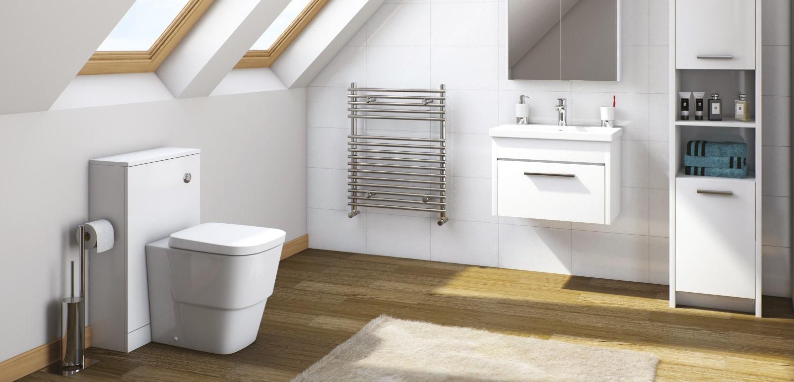 Smart white bathroom furniture for Smart bathroom