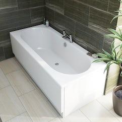 singled ended acrylic bath