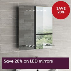 Save 20% off LED mirrors