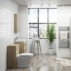 Arden oak bathroom furniture