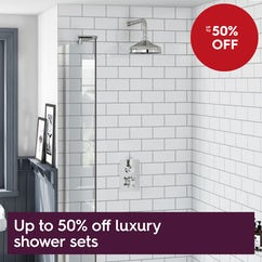 Luxury shower sets - up to 50% off