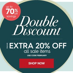 Winter savings up to 70% off