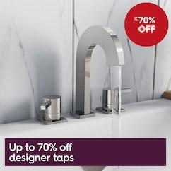 Up to 70% off designer taps