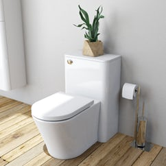 white back to wall toilet with unit