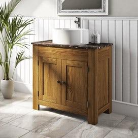 Chester oak bathroom furniture