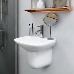 wall hung cloakroom basin
