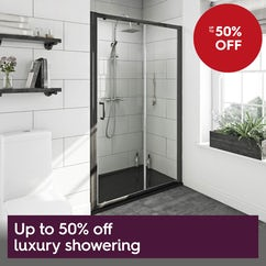 Up to 50% off luxury showering