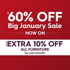 Big January Sale up to 60% off