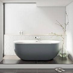 White arc freestanding bath