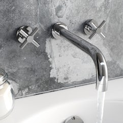 chrome wall mounted tap