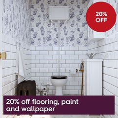 Save 20% on flooring, paint and wallpaper