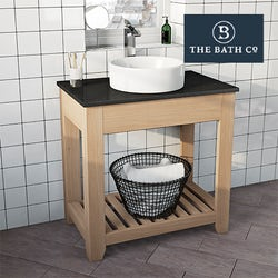 Hoxton oak bathroom furniture