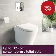 Up to 50% off contemporary toilet sets