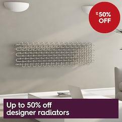 Up to 50% designer radiators