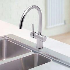 chrome kitchen tap
