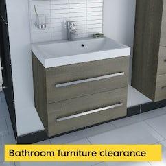 Bathroom furniture clearance