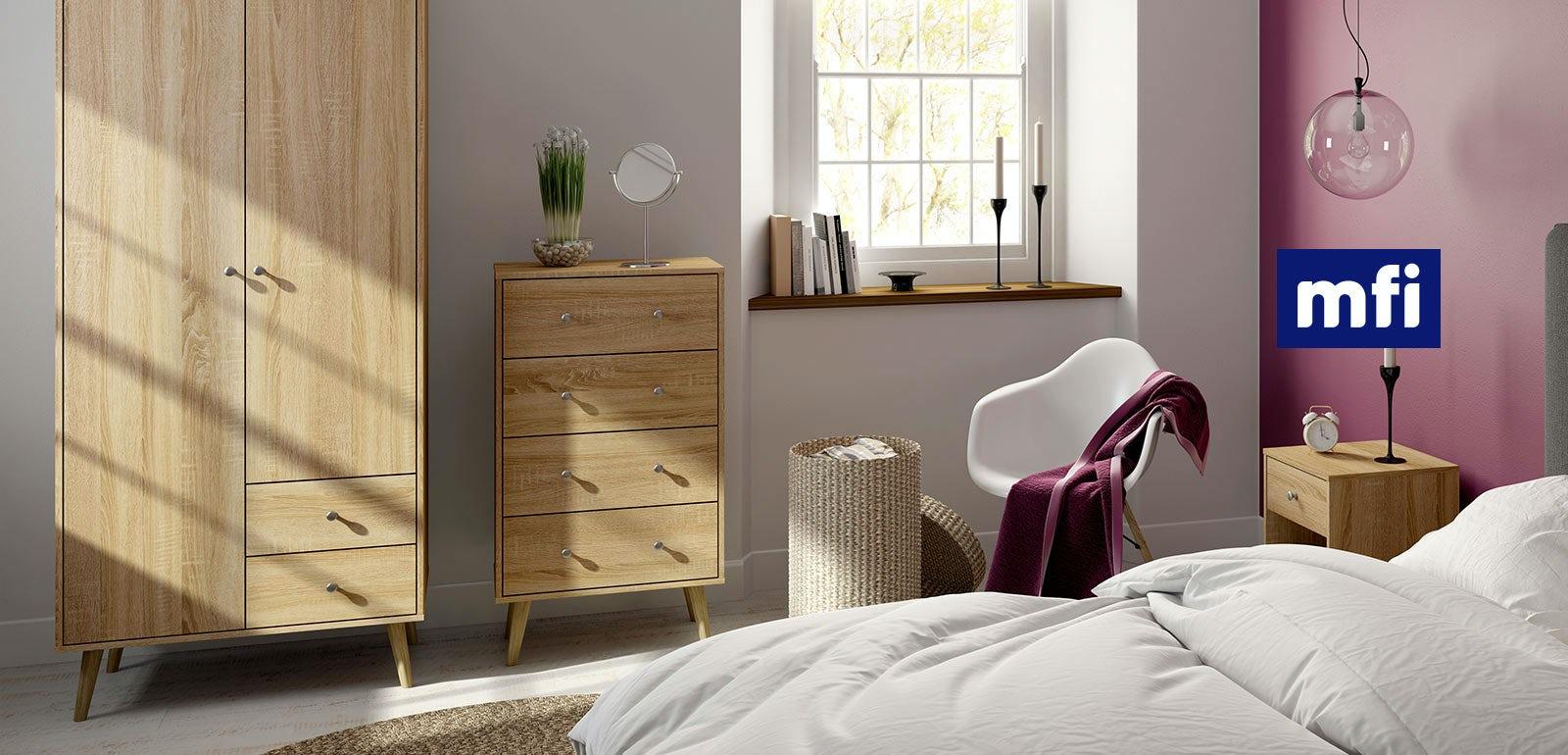 Light Walnut Bedroom Furniture The Mfi Bedroom Furniture Collection Victoriaplumcom