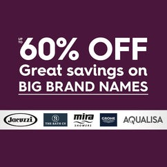 Up to 60% off Big Brand names