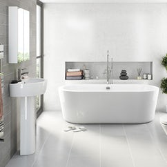 arc freestanding bath and basin