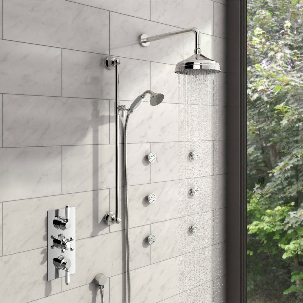 Traditional Thermostatic Shower Set