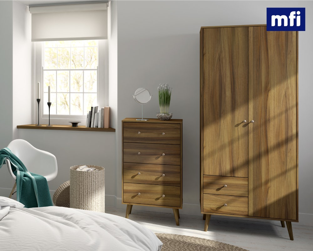 Helsinki walnut bedroom furniture shot