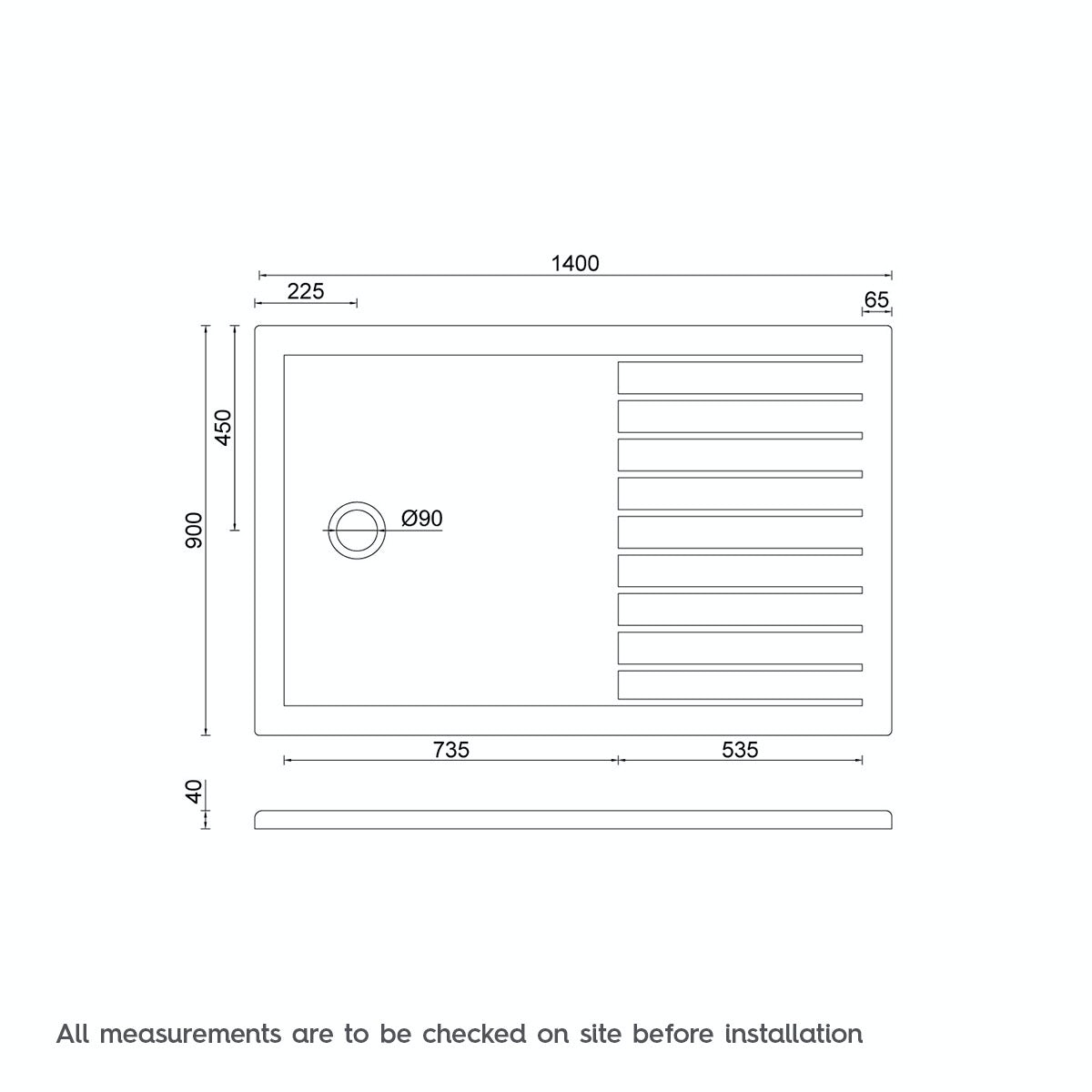 Mode luxury 8mm walk in shower enclosure pack with tray for Walk in shower plans and specs