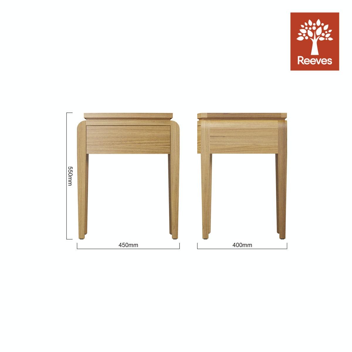 Reeves Samuel Natural Oak Side Table Victoriaplum Com