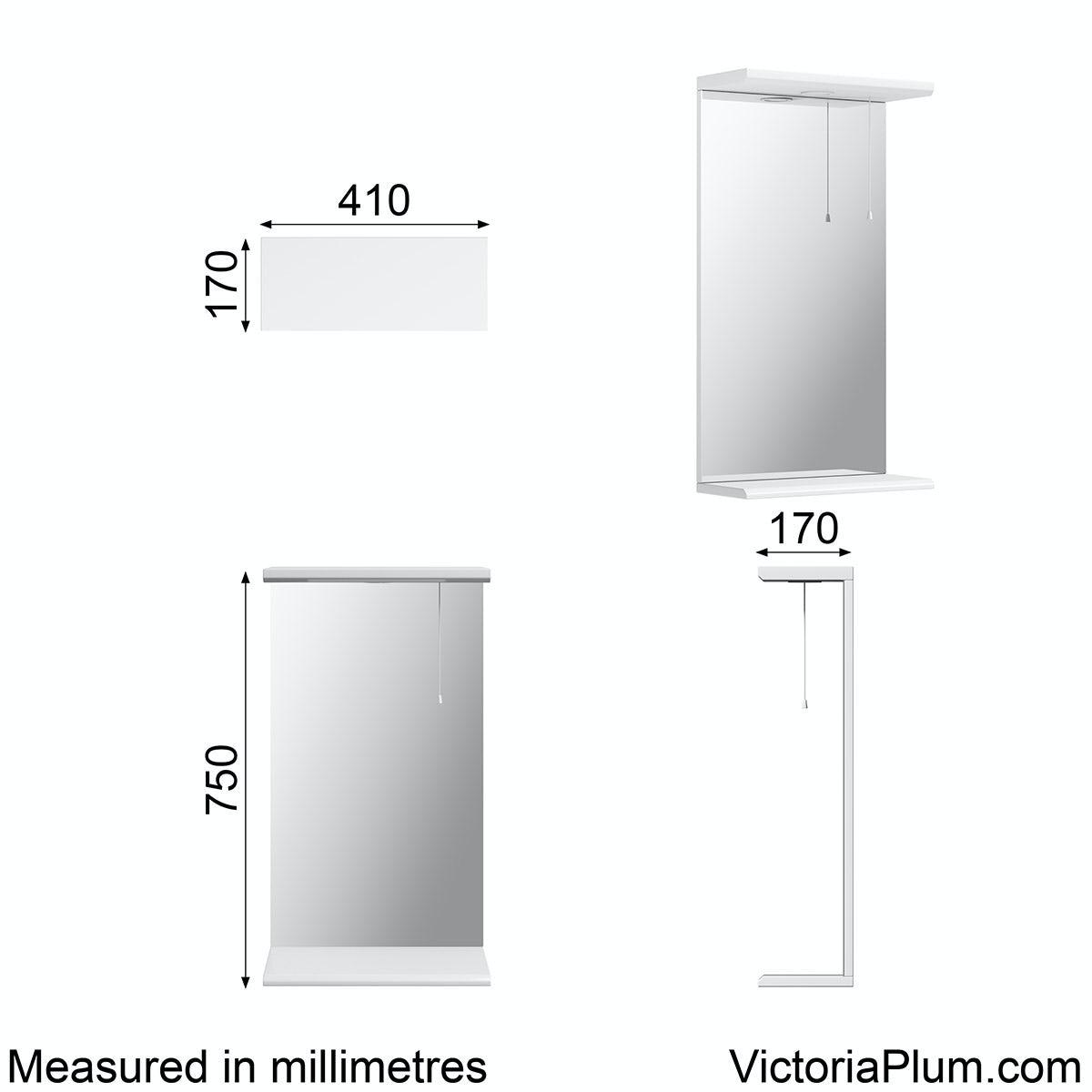 Sienna White 41 Mirror With Lights Victoriaplum Com