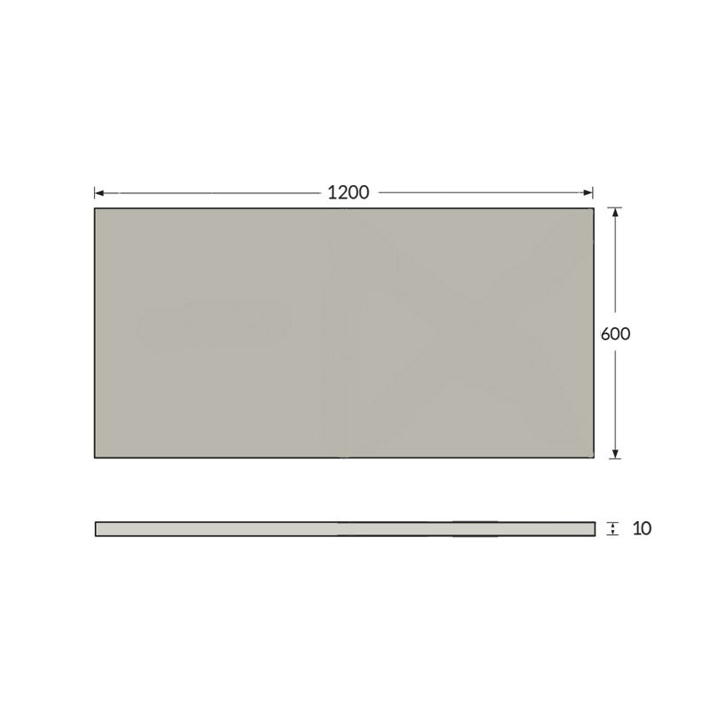 Dimensions for Waterproof Tile Backer Board 10mm Pack of 10