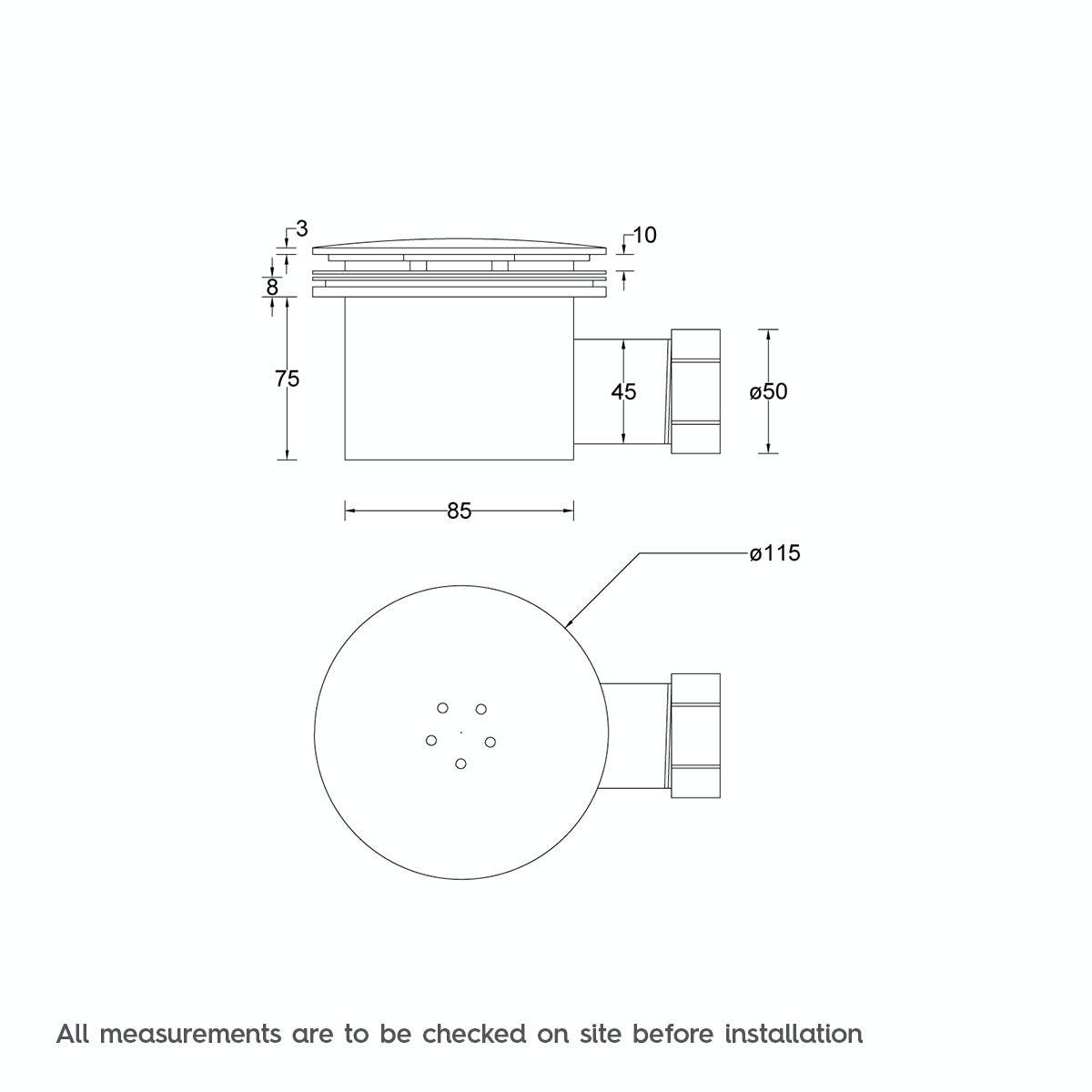 90mm Slimline Shower Tray Waste Victoriaplum Com