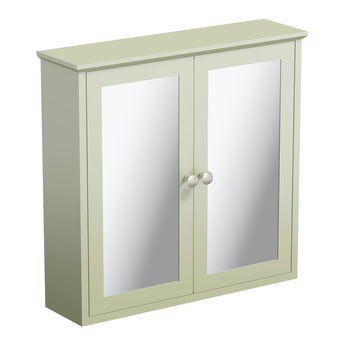 The Bath Co. Camberley sage wall hung mirror cabinet