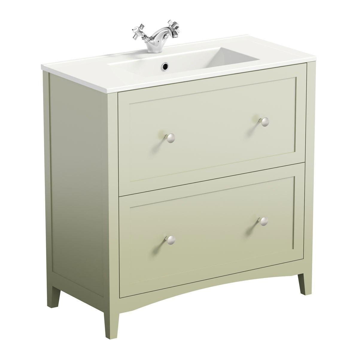 Camberley sage vanity unit basin 800mm. The Bath Co Vanity Units   VictoriaPlum com