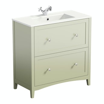 The Bath Co. Camberley sage vanity unit basin 800mm
