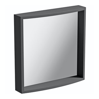 Mode Curvaceous slate bathroom mirror
