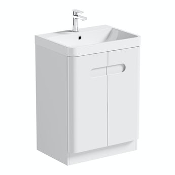 Mode Planet white vanity door unit and basin 600mm