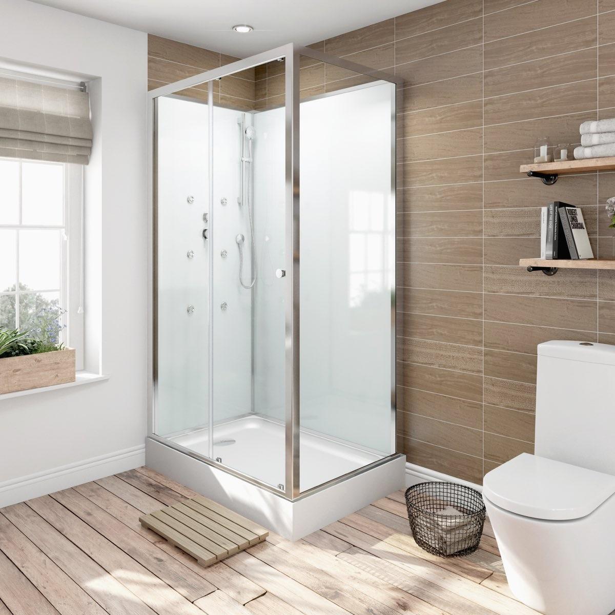 glass backed rectangular shower cabin  x : cabinets uk cabis