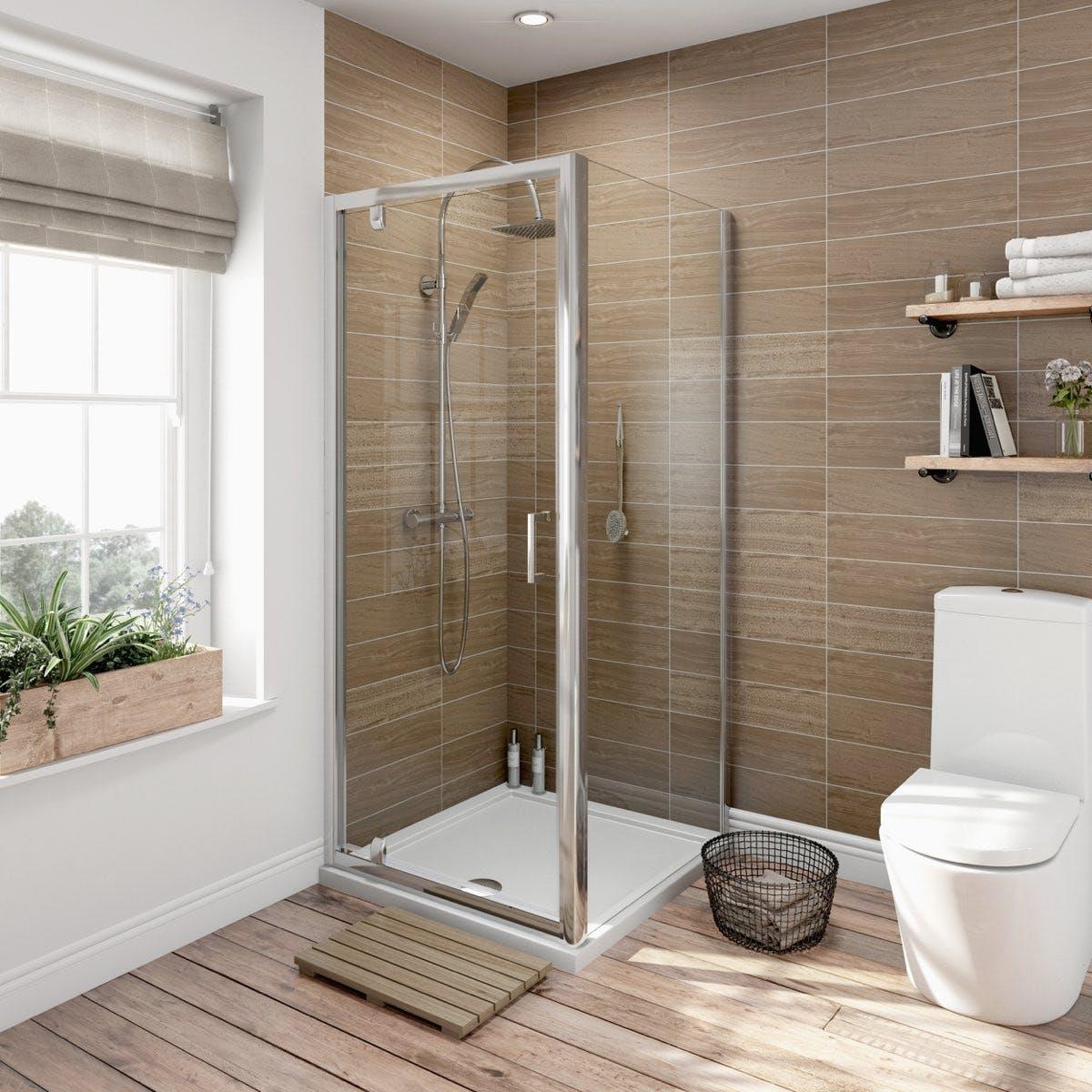 6mm Pivot Door Rectangular Shower Enclosure Offer Pack