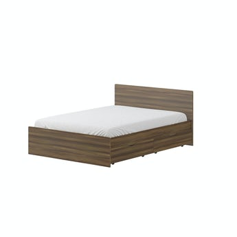 MFI Walnut double storage bed