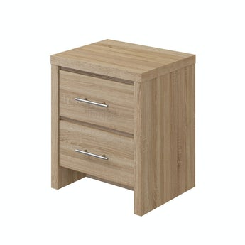 MFI London oak 2 drawer bedside