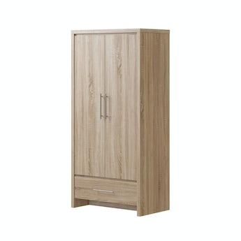 MFI London oak 2 door, 1 drawer wardrobe