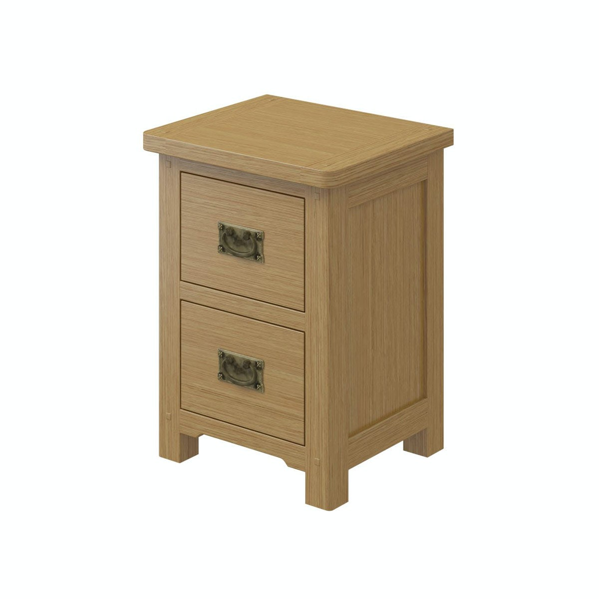 Rome Oak 2 Drawer Bedside in Oak