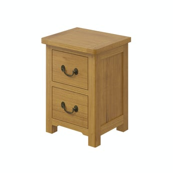 MFI Rome reclaimed pine 2 drawer bedside