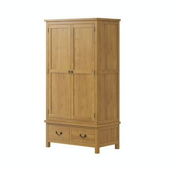 MFI Rome reclaimed pine gents wardrobe
