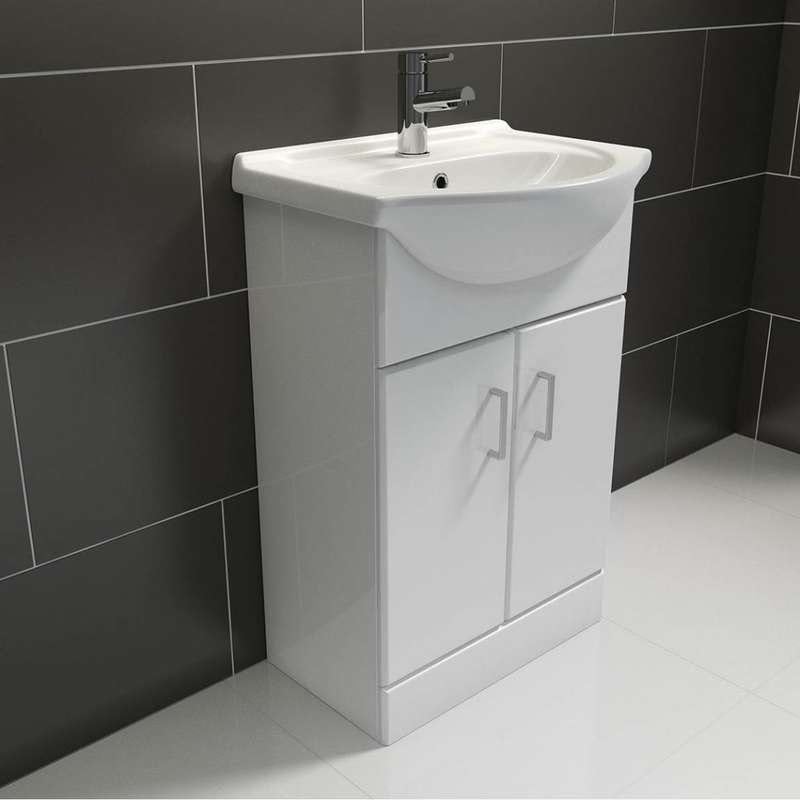 bathroom sink cabinets. Modren Cabinets Sienna White Vanity Unit With Basin 550mm Intended Bathroom Sink Cabinets H