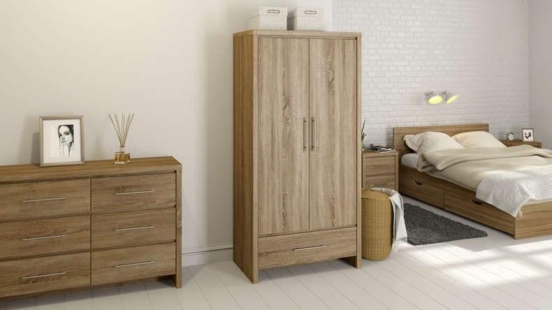MFI London oak bedroom furniture