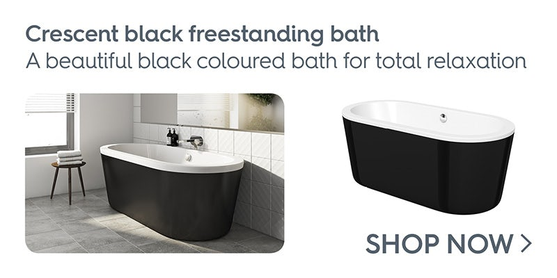Mode Crescent black freestanding bath
