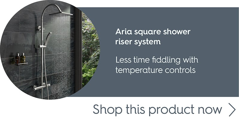 Aria square shower riser system